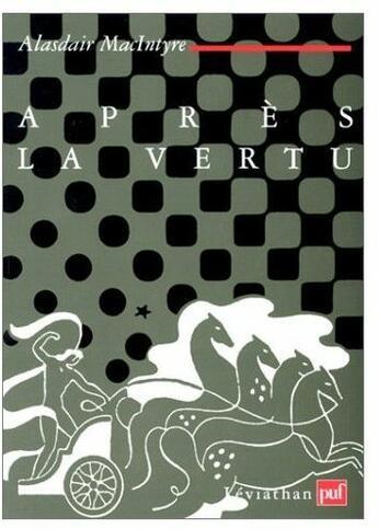 Couverture du livre « Apres la vertu » de Alasdair Macintyre aux éditions Puf