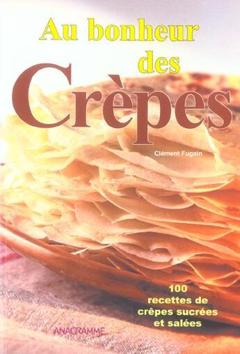 Couverture du livre « Au Bonheur Des Crepes » de Clement Fugain aux éditions Anagramme