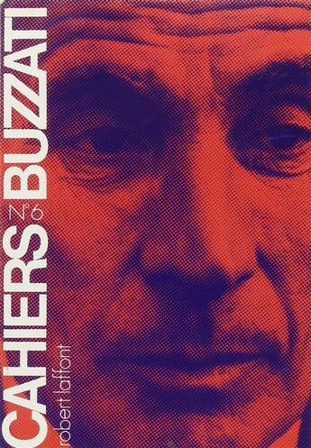 Couverture du livre « Cahiers Buzzati t.6 » de Collectif aux éditions Robert Laffont