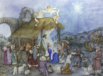 Couverture du livre « Calendrier de l'avent l'espoir de Noël - campinoti » de Campinoti Lucia aux éditions Mineditions