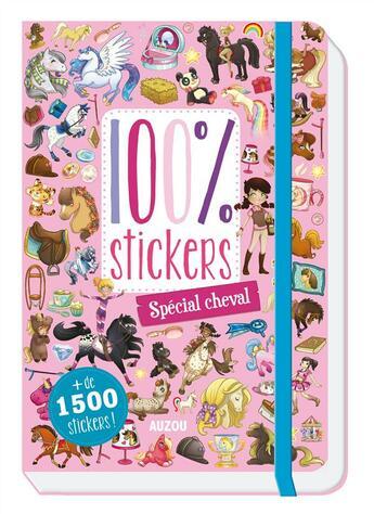 Couverture du livre « 100% stickers ; spécial cheval » de Candybird et Geraldine Charrette et Doriane Soukiassian aux éditions Philippe Auzou