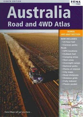 Couverture du livre « Australia Road & 4wd Atlas Sp » de Collectif aux éditions Hema