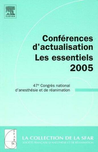 Couverture du livre « Conférences d'actualisation 2005 » de Collectif aux éditions Elsevier-masson