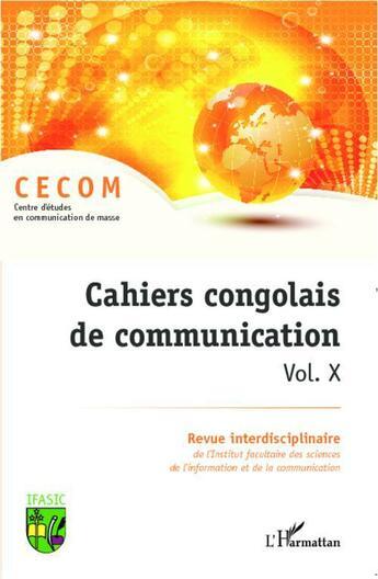 Couverture du livre « Cahiers congolais de communication t.10 » de Cahiers Congolais De Communication aux éditions L'harmattan
