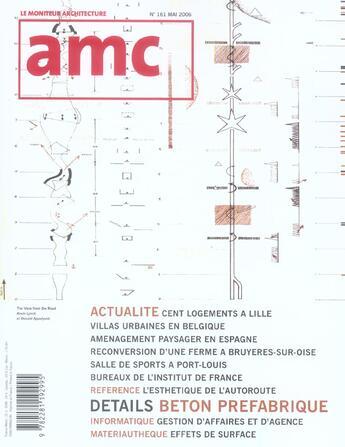 Couverture du livre « Amc N 161 Mai 2006 » de Moniteur aux éditions Le Moniteur