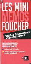 Couverture du livre « Les mini mémos Foucher ; tables financières et statistiques » de Jean-Marie Pascal aux éditions Foucher