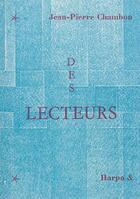 Couverture du livre « Des lecteurs » de Jean-Pierre Chambon aux éditions Harpo & Editions