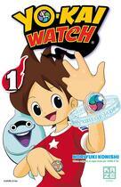 Couverture du livre « Yo-Kai Watch T.1 » de Noriyuki Konishi aux éditions Kaze