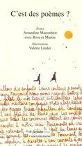 Couverture du livre « C'est des poèmes ? » de Valerie Linder et Amandine Marembert aux éditions Cadex