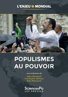 Couverture du livre « Populismes au pouvoir » de Collectif et Alain Dieckhoff et Christophe Jaffrelot et Elise Massicard aux éditions Presses De Sciences Po