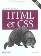 Couverture du livre « Introduction A Html Et Css » de Sarrion aux éditions O Reilly France