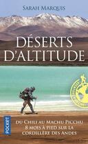 Couverture du livre « Déserts d'altitude » de Sarah Marquis et Janis Lachat aux éditions Pocket