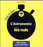 Couverture du livre « L'astronomie pour les nuls » de Blandine Pluchet aux éditions First