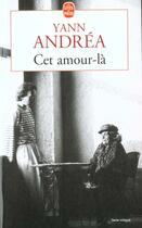 Couverture du livre « Cet Amour- La » de Andrea-Y aux éditions Lgf