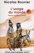 Couverture du livre « L'usage du monde » de Nicolas Bouvier aux éditions Payot