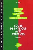 Couverture du livre « Cours De Physique Annales Corrigees 1996/1997- 2eme Edition » de M Teng aux éditions Heures De France