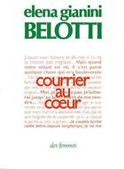 Couverture du livre « Courrier au coeur » de Elena Gianini Belotti aux éditions Des Femmes