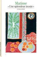 Couverture du livre « Matisse ;