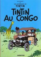 Couverture du livre « Les aventures de Tintin T.2 ; Tintin au Congo » de Herge aux éditions Casterman