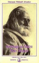 Couverture du livre « Hommage au maître Peter Deunov » de Omraam Mikhael Aivanhov aux éditions Prosveta