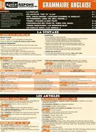 Couverture du livre « Grammaire anglaise » de Collectif Crep aux éditions Matiere A Savoir