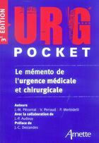 Couverture du livre « Urg'Pocket » de Collectif aux éditions Arnette