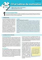 Couverture du livre « CV et lettres de motivation » de Enrick Barbillon aux éditions Enrick B.