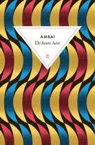 Couverture du livre « De haute lutte » de Ambai aux éditions Zulma