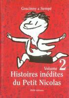 Couverture du livre « Histoires inédites du Petit Nicolas t.2 » de Jean-Jacques Sempe et Rene Goscinny aux éditions Imav