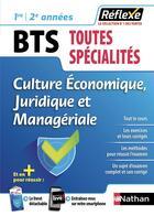 Couverture du livre « Culture economique, juridique et manageriale - bts 1ere/2eme annees - guide reflexe n27 » de Delzant/Le Ven aux éditions Nathan