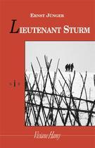 Couverture du livre « Lieutenant Sturm » de Ernst Junger aux éditions Viviane Hamy