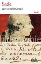 Couverture du livre « Sade » de Stephanie Genand aux éditions Gallimard