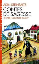 Couverture du livre « Contes de sagesse de Rabbi Nahman de Braslav » de Adin Steinsaltz aux éditions Albin Michel