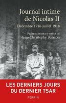 Couverture du livre « Journal intime de Nicolas II » de Jean-Christophe Buisson et Nicolas Ii aux éditions Perrin