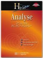 Couverture du livre « Analyse ; 2ème annee pc-pc*-psi-psi* » de B Beck aux éditions Hachette Education