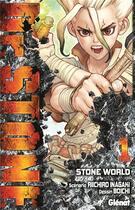 Couverture du livre « Dr. Stone T.1 ; Stone world » de Riichiro Inagaki et Boichi aux éditions Glenat