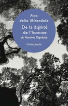 Couverture du livre « De la dignité de l'homme » de Giovanni Pico Della Mirandola aux éditions Eclat