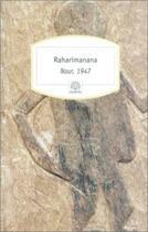 Couverture du livre « Nour, 1947 » de Raharimanana aux éditions Motifs