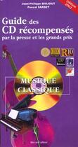 Couverture du livre « Guide Des Cd Recompenses ; Edition 2002 » de Fardet et J-P Biojout aux éditions Bleu Nuit