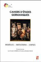 Couverture du livre « Modèles, imitations, copies » de Andre Combes et Christina Stange-Fayos aux éditions Pu De Provence