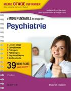 Couverture du livre « L'indispensable en stage de psychiatrie (3e édition) » de Isabelle Lim-Sabbah aux éditions Elsevier-masson