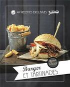 Couverture du livre « La sélection de burger et tartinades de Bread and Burger » de Sylvie Ait-Ali et Morgan Canivet aux éditions I2c