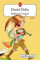 Couverture du livre « Robinson Crusoé (extraits) » de Daniel Defoe aux éditions Lgf