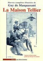 Couverture du livre « La maison Tellier » de Guy de Maupassant aux éditions Jmg