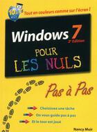 Couverture du livre « Windows 7 pas à pas pour les nuls (2e édition) » de Nancy Muir aux éditions First Interactive