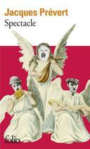 Couverture du livre « Spectacle » de Jacques Prevert aux éditions Gallimard