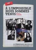 Couverture du livre « À l'impossible nous sommes tenus » de Fabienne Casta-Rosaz aux éditions Escabelle