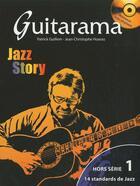Couverture du livre « Guitarama ; jazz story » de Jean-Christophe Hoarau et Patrick Guillem aux éditions Hit Diffusion