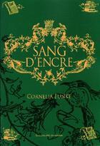 Couverture du livre « Sang d'encre » de Cornelia Funke aux éditions Gallimard-jeunesse