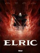 Couverture du livre « Elric T.1 ; le trône de rubis » de Jean Bastide et Julien Blondel et Didier Poli et Robin Recht aux éditions Glenat